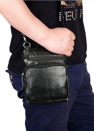 Мужская кожаная сумка, барсетка, шкіряна сумка Westal. Без пер...
