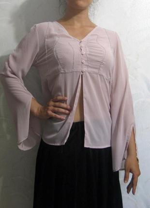 Блузка repeat грязно розовый светлый цвет расшитая бисером дли...