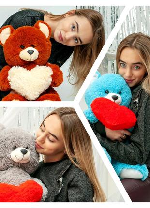 Мягкий плюшевый мишка 65см, подарок, Медведь, ведмедик, плюшевый
