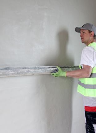 Напівсуха стяжка підлоги та механізована штукатурка стін