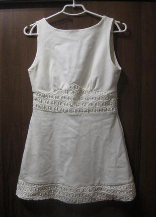 Платье tfnc london белое фактурное мини короткое англия