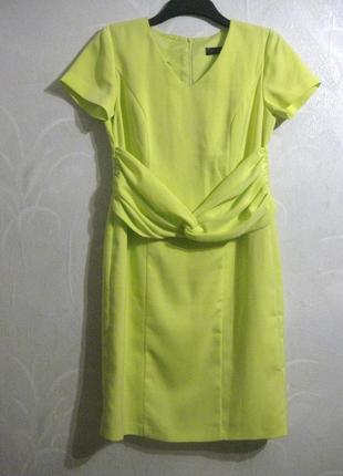 Платье bpc selection жёлтое лимонное неоновое миди футляр