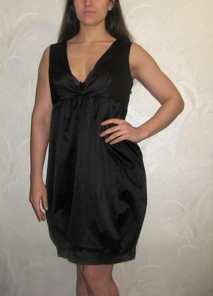 Платье сарафан gestuz чёрное футляр с карманами