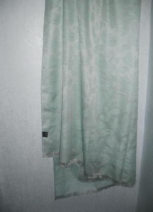 Платок палантин mumtaz scarf мятный бирюзовый индия