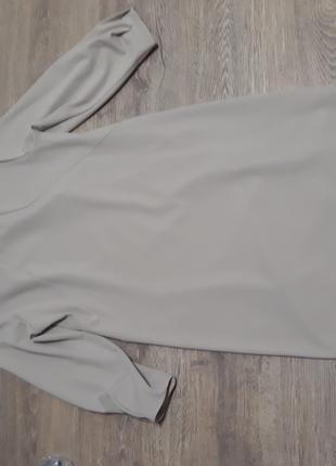 Платье-футляр 46 размера с бисерной вставкой