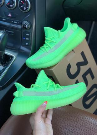 Yeezy boost 350 neon green 🆕 мужские кроссовки адидас изи  🆕 с...