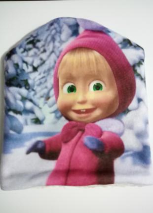 """Шапка зимняя для девочки на меху """"Маша"""""""