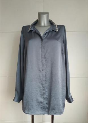 Изумительная блуза marks&spencer с декором на воротничке