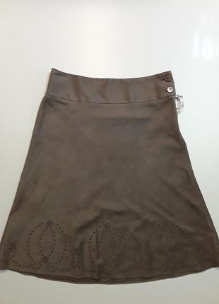 Фирменная очень красивая юбка под замш