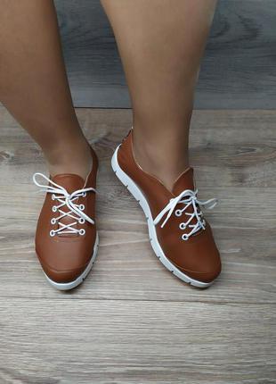 Кожаные  мокасины , безподкладочные туфли  , 36 37 40  размера ,