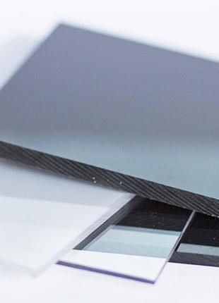 Поликарбонат монолитный бронзовый-бронза, бесцветный-прозрачный