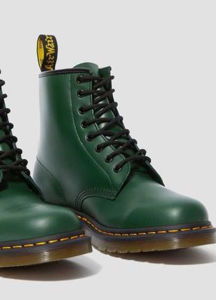 Черевики ботинки dr. martens 1460 зелені smooth leather original