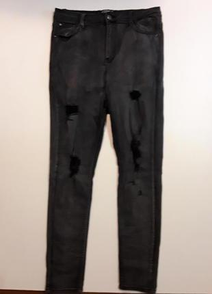 Фирменные джинсы скинни высокая посадка