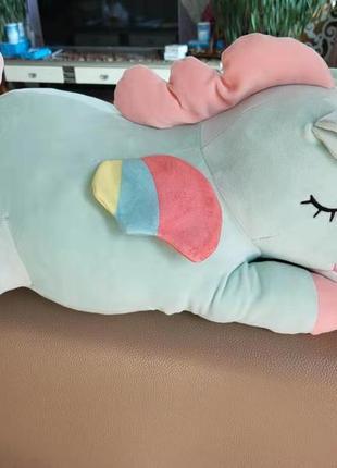 Детская игрушка-подушка плед единорог