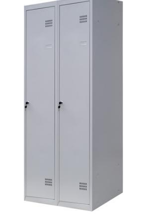 Метталический шкаф для одежды с перегородкой ШОМ-П 2/80