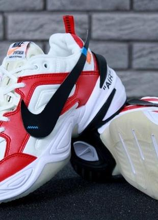 Мужские стильные кроссовки nike m2k tekno white red.