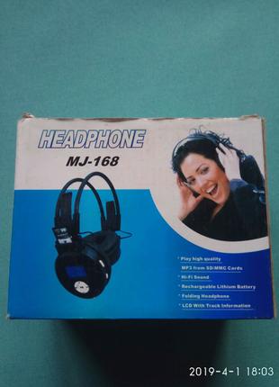 Наушники MP3 FM radio