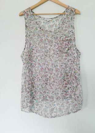 Блуза большого размера/майка шифон/look