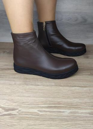 Кожаные демисезонные ботинки 38-39  размера от производителя