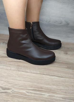 Кожаные демисезонные ботинки 41 размера от производителя