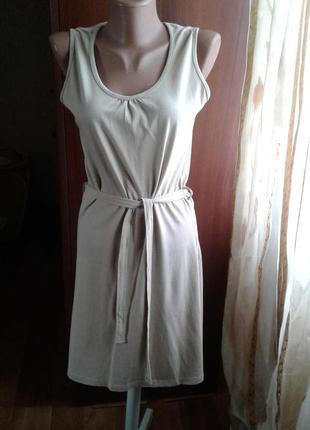 Платье-майка,цвет молочного кофе