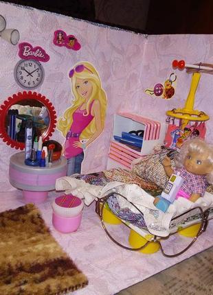 Дом для куклы на 4 комнаты
