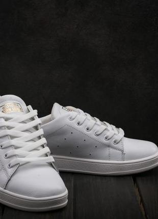 Женские кеды кожаные  белые adidas stan smith