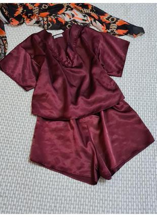 Пижама атласная/комплект для сна presence