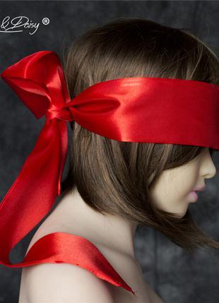 Повязка на глаза (лента) красная из шелка