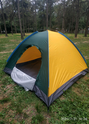 Палатка четырёхместная 208*208*130 см.