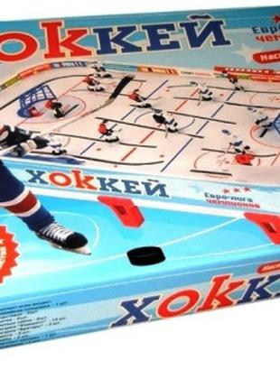 Хоккей настольный 0711 на штангах Евролига Чемпионов - на штангах