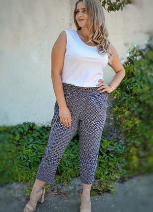 Укороченные летние брюки больших размеров, жіночі штани батал,...
