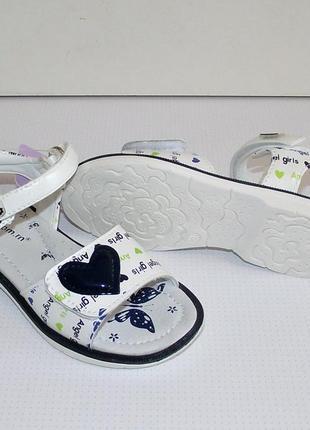 Босоножки белые для девочки tom.m