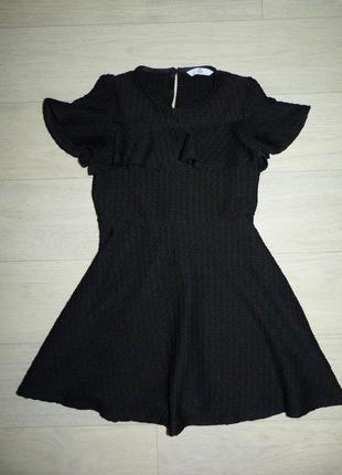 Черное платье m&s 6-7 лет