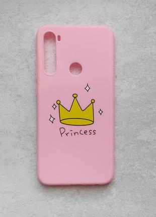 Чехол xiaomi redmi note 8 princess розовый