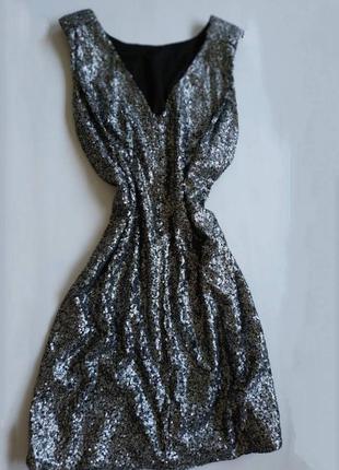 Just female платье в паетках с паэтками серое блестящое платье...