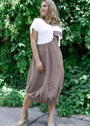 Оригинальное платье больших размеров, жіноче плаття плюс сайз