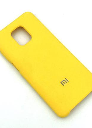 Чехол XIAOMI RedMi Note 9 Pro/Note 9S Silicon Case Yellow