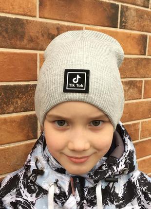 Тонкая детская подростковая демисезонная шапка для мальчика от...