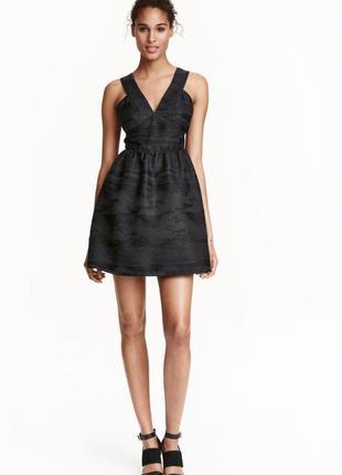 Короткое платье с пышной юбкой h&m premium