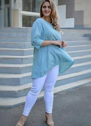 Блуза свободного кроя большого размера, жіноча блузка плюс сай...