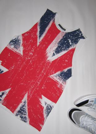 Яркая майка британский флаг