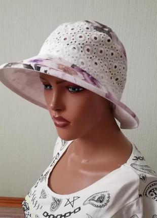 Красивая шляпа панама лето 56-58