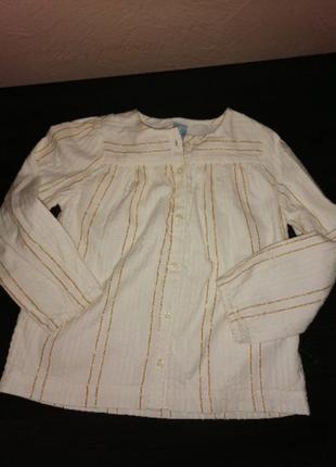 Рубашка на подкладке gap 5 лет