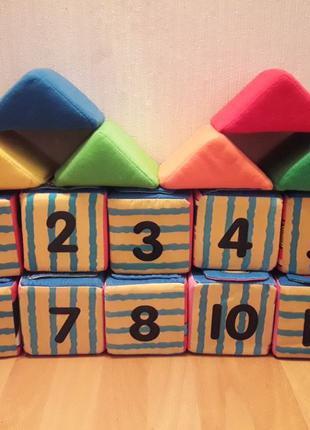 Мягкие развивающие кубики для ребёнка с 9 месяцев. Фирмы K'sKids