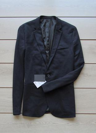 Новый мужской синий пиджак от asos