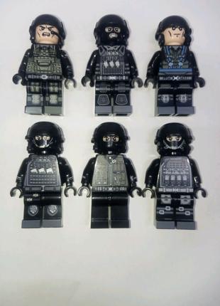 Минифигурки спецназа Лего lego конструктор
