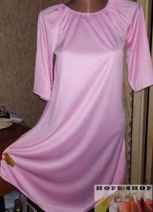 Трикотажное розовое платье для девочки с открытыми плечами