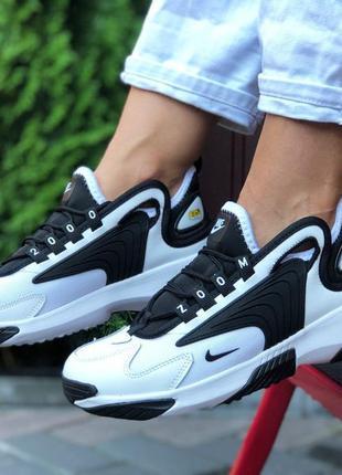 Модные кроссовки, черно с белым