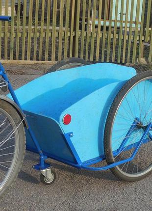 Велоприцеп грузовая тележка с колесами 28 дюймов Везун-4